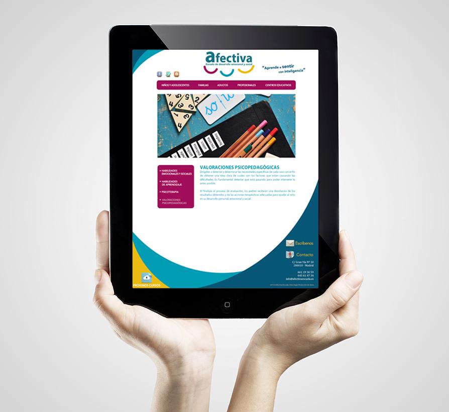 Página web corporativa Afectiva Escuela www.afectivaescuela.es