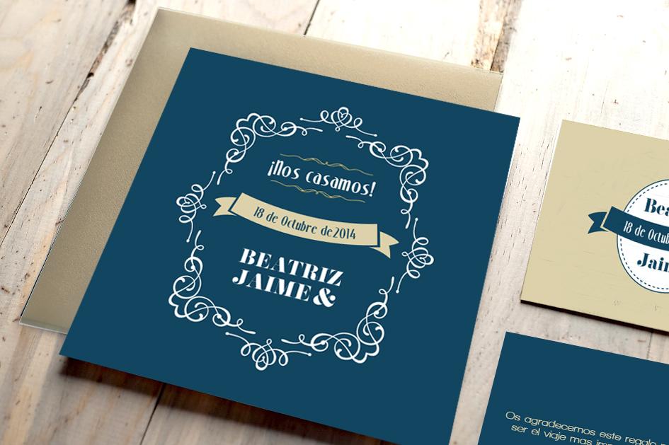 Diseño de invitación, tarjeta y etiquetas